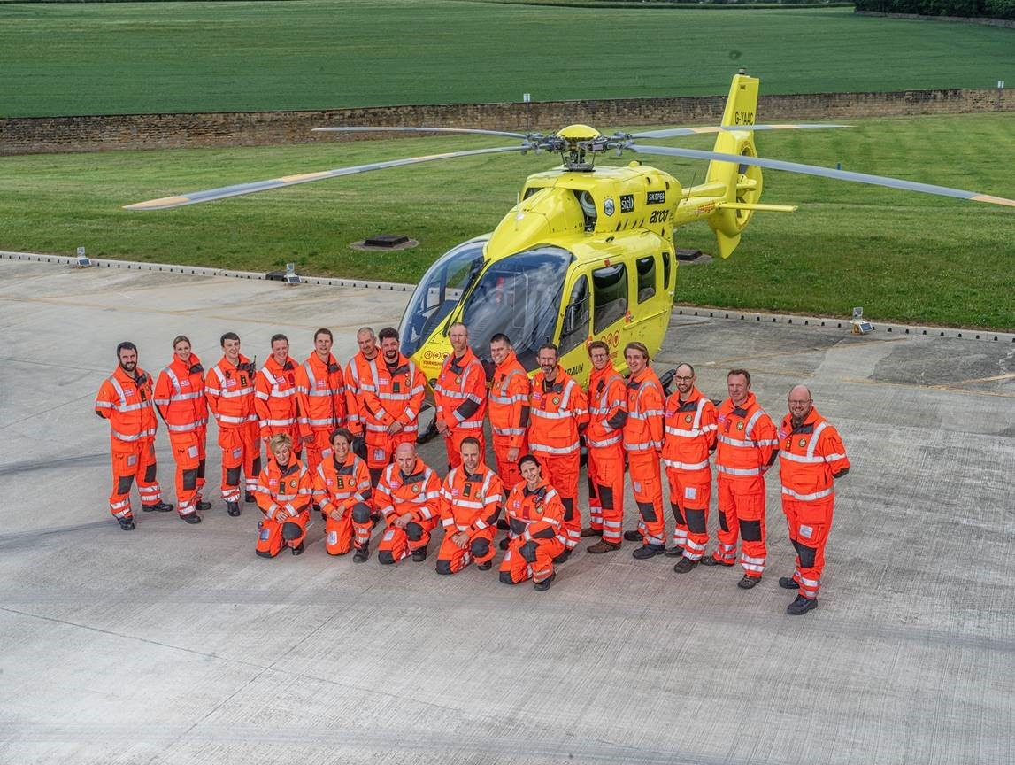 the Yorkshire Air Ambulance at the Nostell Estate