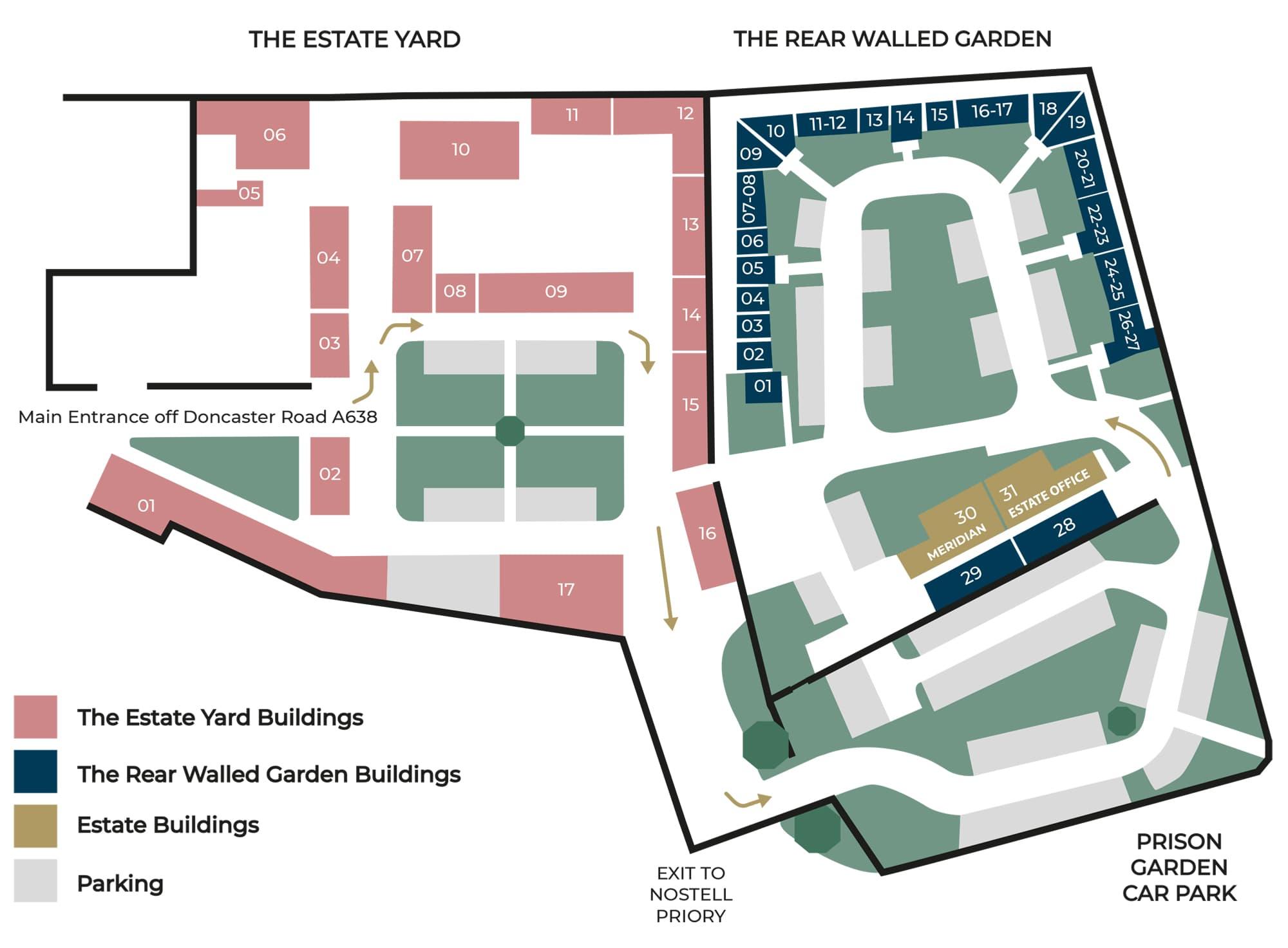 Nostell Estate Map
